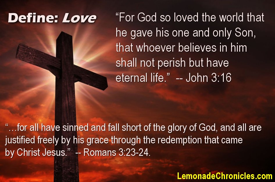 God's Love through Jesus - that we all need.